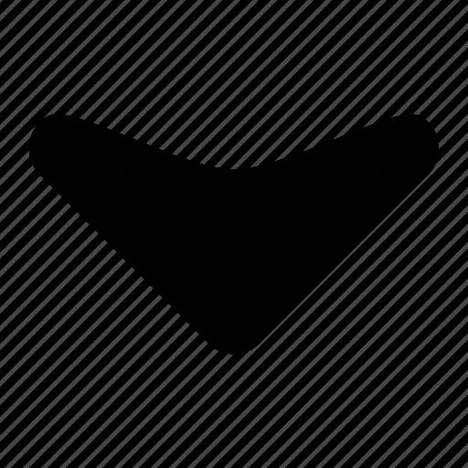 arrow, corve, down, fill, ico, round, unbase icon