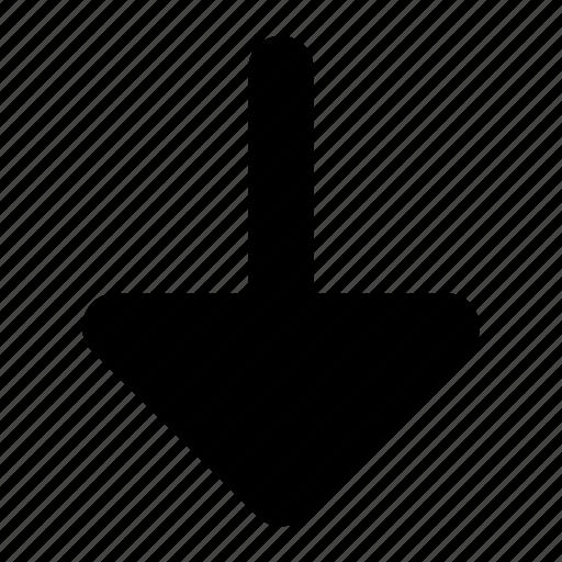 arrow, down, fill, ico, round icon