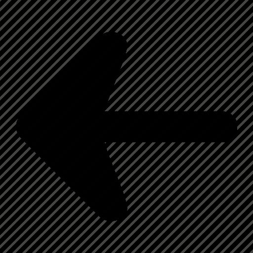 arrow, corve, fill, ico, left, round icon