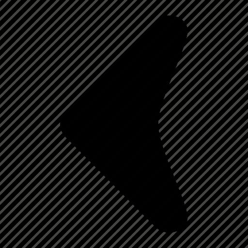 arrow, corve, fill, ico, left, round, unbase icon