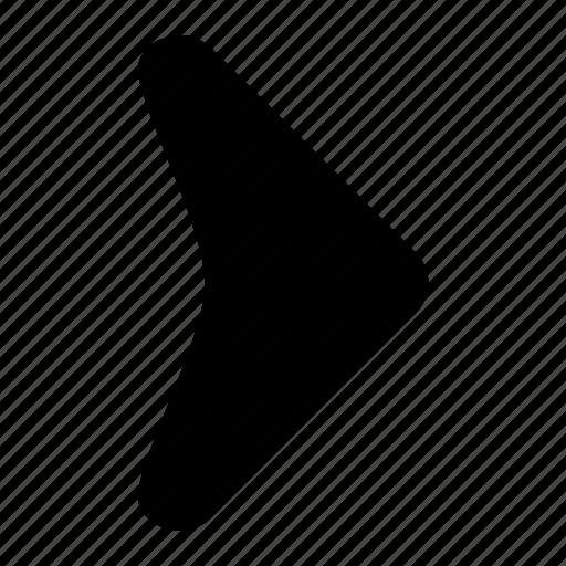 arrow, corve, fill, ico, right, round, unbase icon