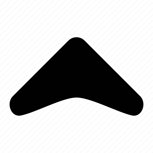 arrow, corve, fill, ico, round, unbase, up icon