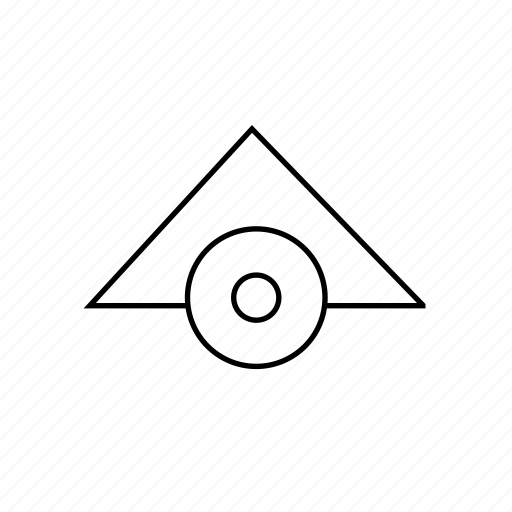 home, hut, line, map, wood icon