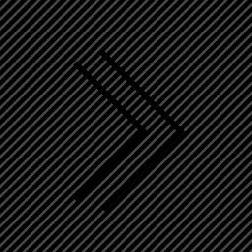 arrow, dubble, left, line icon