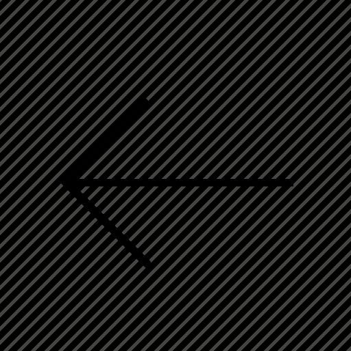 arrow, backarrow, backword, line, thin icon