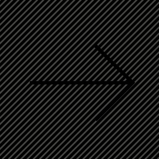 arrow, forwordarrow, line, next, thin icon