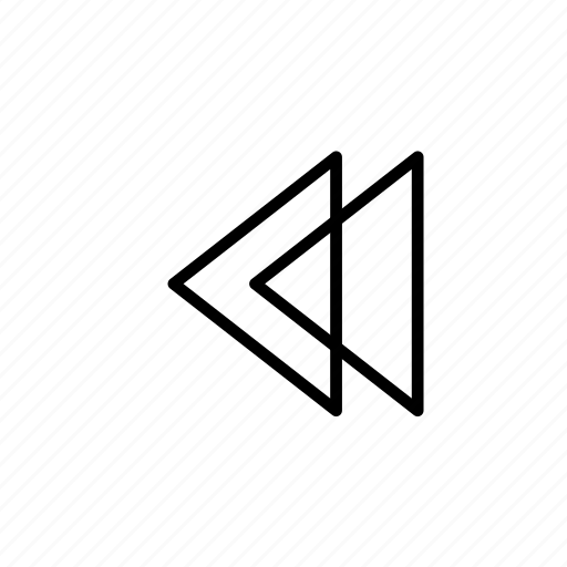 back, corner, line, music, previous, round, speed icon