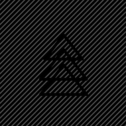 big, corner, piramid, round, small, to, tripal icon