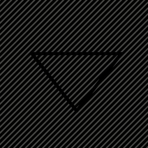 arrow, caret, corner, down, line, round icon