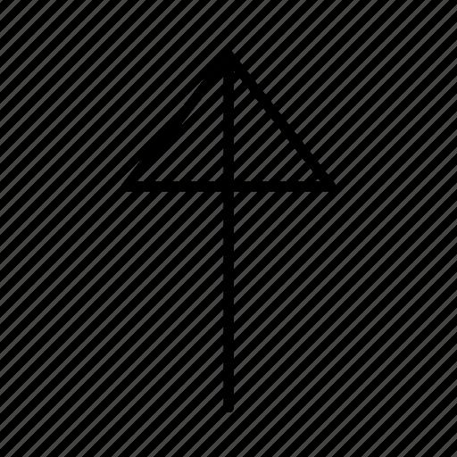 arrow, corner, crash, line, round, top, up icon