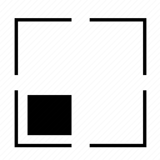 arrow, full, line, out, position, round, zoom icon