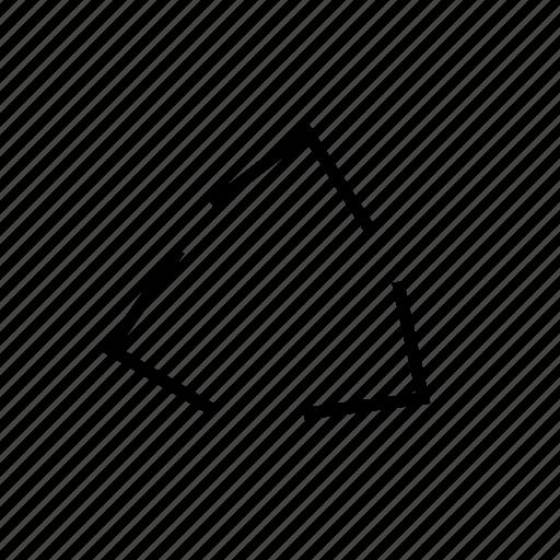 arrow, line, map, recycle, trangle icon