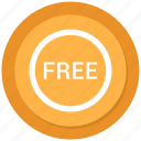 badge, free, label, sticker icon