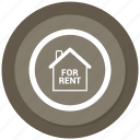 estate, for, real, rent icon