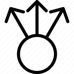 apart, arrows, distance, seperate, split icon