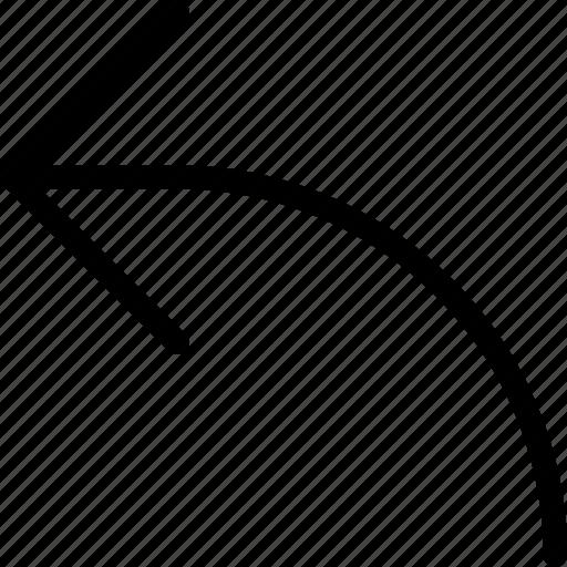 arrow, back, backward, move, previous icon