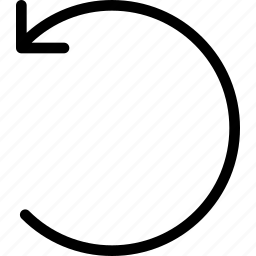 arrow, back, backward, previous, undo icon