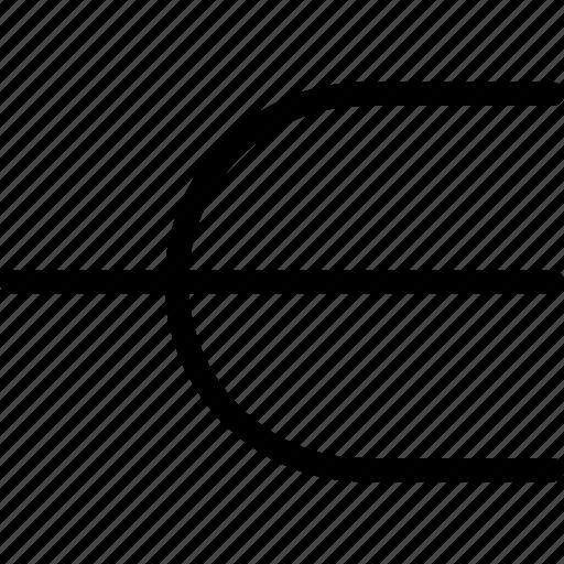arrow, diverge, divide, part, separate icon