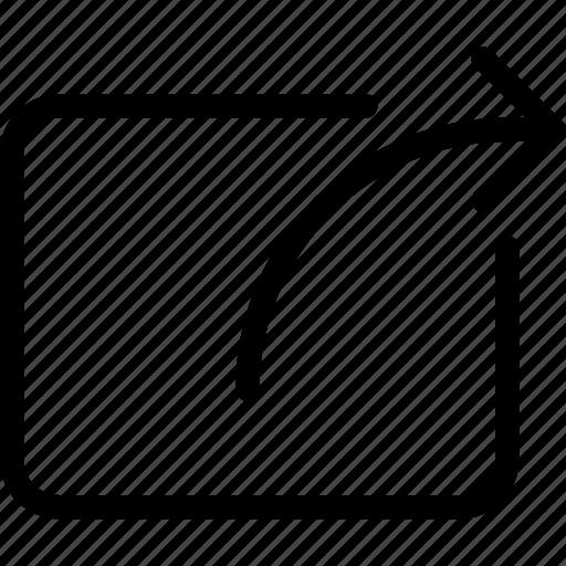 arrow, direction, export, send, transfer icon