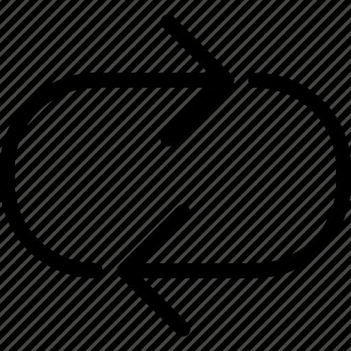 arrows, cross, loop, narrow, openings icon