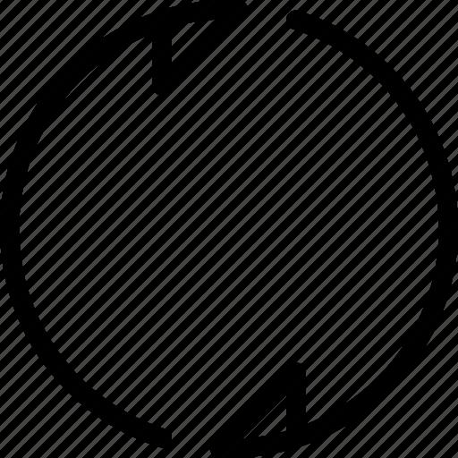 arrows, cross, loop, narrow, opening icon