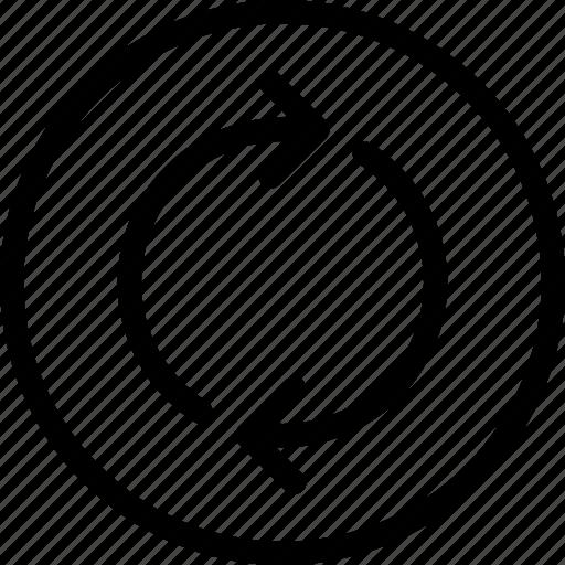 arrow, cross, loop, narrow, openings icon