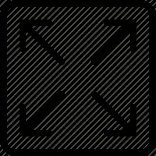 arrows, enlarge, expand, fullscreen, maximize icon