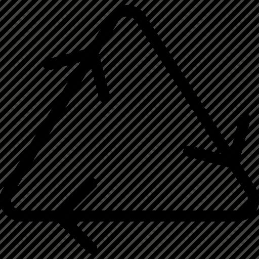 arrows, recycle, refresh, reload, trash icon