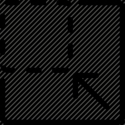 compress, minimize, reduce, resize, shrink icon