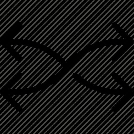 arrows, change, direction, exchange, shuffle icon