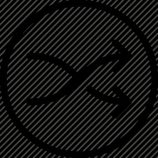 arrows, exchange, random, replace, shuffle icon