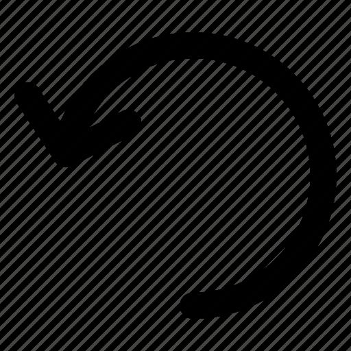 arrow, interface, refresh, repeat, undo icon
