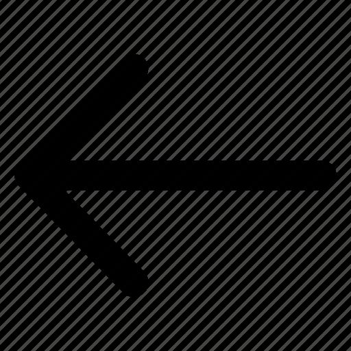 arrow, back, interface, left, previous icon