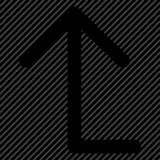 arrow, interface, raise, top, up icon