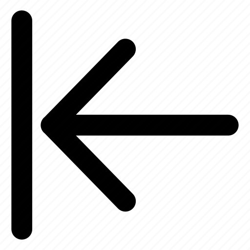 arrow, beginning, direction, interface, left icon