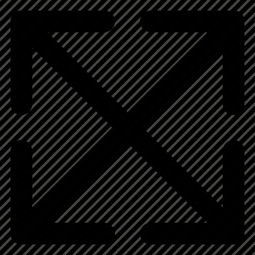 arrows, diagonal, enlarge, interface, scale icon
