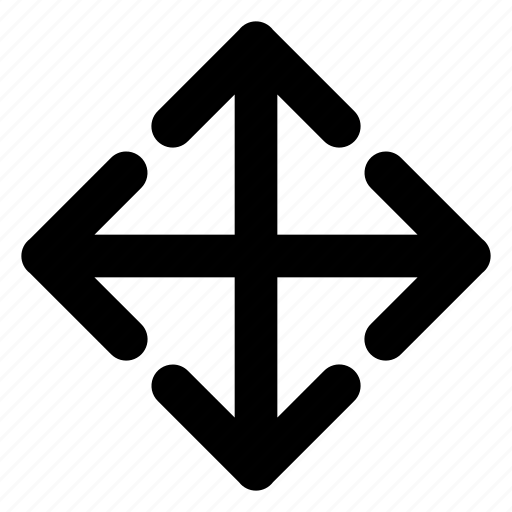 arrows, enlarge, interface, scale, spread icon