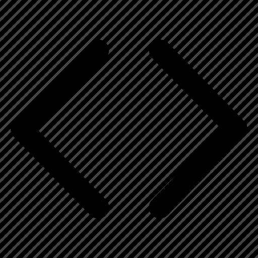 arrows, brackets, chevrons, code, interface icon