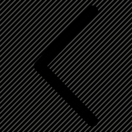 back, chevron, interface, left, side icon