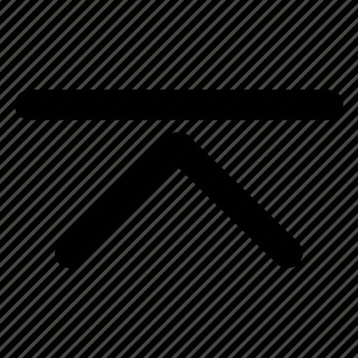 chevron, direction, highest, interface, top icon