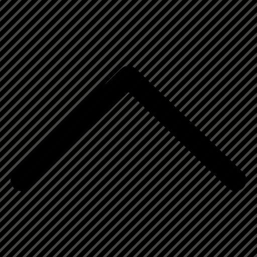 chevron, direction, interface, up, upward icon