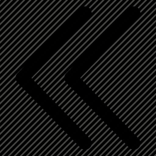 across, chevrons, interface, left, push icon