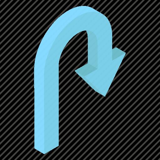 Arrow sign, arrow symbol, forward arrow, pointing arrow, right arrow, u turn arrow icon - Download on Iconfinder