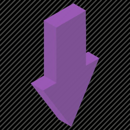 Arrow button, arrow direction, download arrow, download symbol, downward arrow icon - Download on Iconfinder