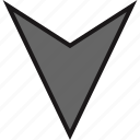 arrow, arrows, down, gps, nav, navs icon