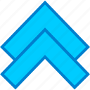 arros, arrow, double, nav, navs, up, upload icon