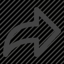arrow, arrows, forward, next, send icon