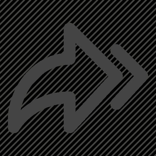 arrow, arrows, forward, send icon