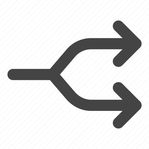 arrow, arrows, music player, shuffle, split, transfer icon