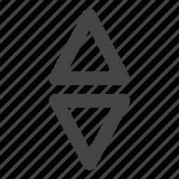 arrow, arrows, direction, elevator, key, point icon